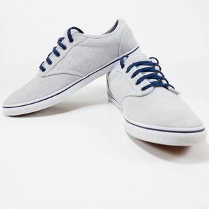Blue and white striped vans Size 10 Womens
